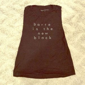 Barre Is The New Black Tank